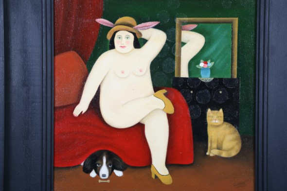 Nude with Cat and Dog, Martin Leman