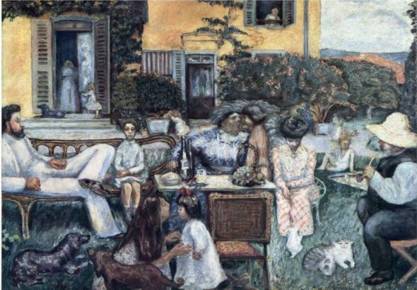 Pierre Bonnard (Francia, 1867-1947). The Bourgeois Afternoon, or The Terrasse Family, 1900, Musee d'Orsay, París