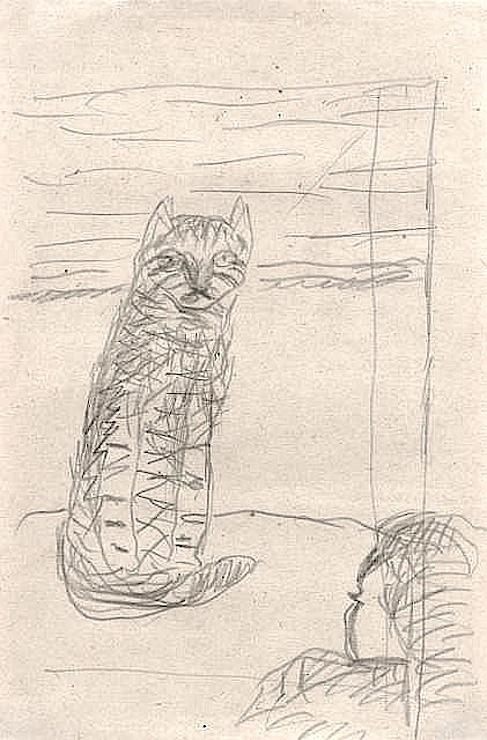 Sketch - Cat, P. Bonnard