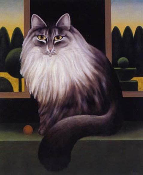 The Laskett, M. Leman, cat art, cat paintings