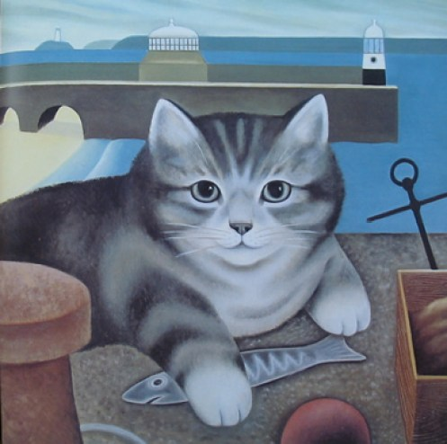 Cat and Fish, M. Leman