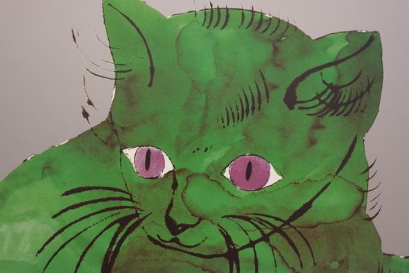 Andy Warhol, Detail, Green Sam kitten