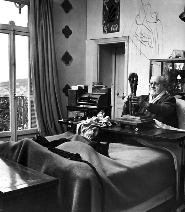 Henri Matisse with Cat 1951