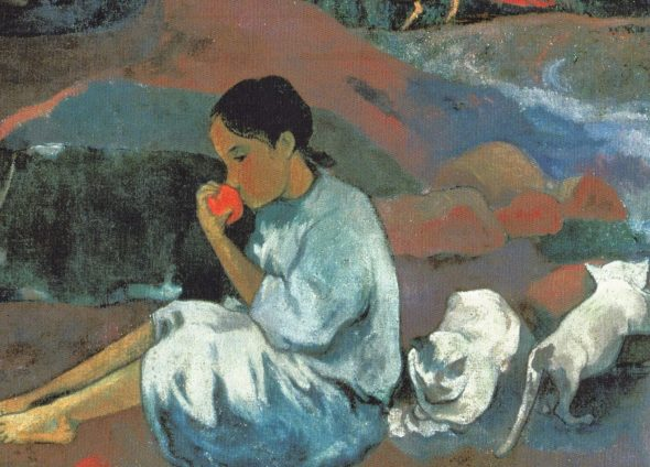 Detail Where do We Come From? What Are We Doing? Where are We Going? 1897 Paul Gauguin