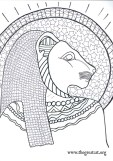 Sekmet, Lion Goddess, Ancient Egyptian Cats A Coloring book