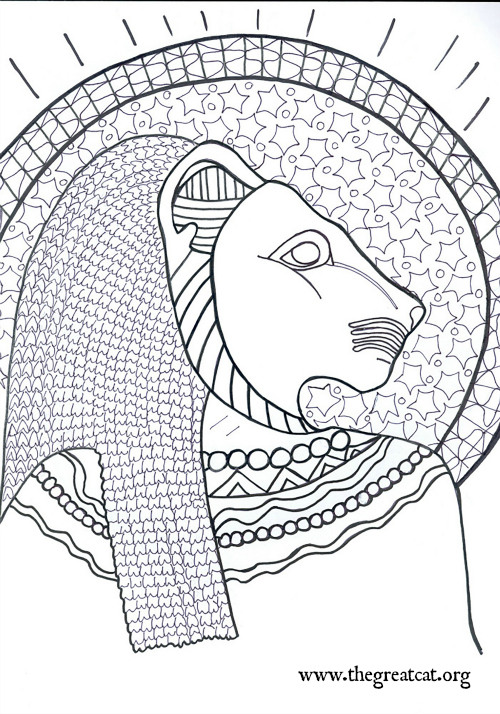 Sekmet Lion Goddess Ancient Egyptian Cats A Coloring Book