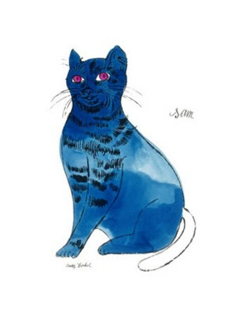 andy-warhol-25-cats-named-sam-and-one-blue-pussy-by-andy-warhol-c-1954-blue-sam