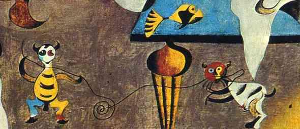 Detail, Harlequin's Carnival, 1925 Joan Miro, cat art