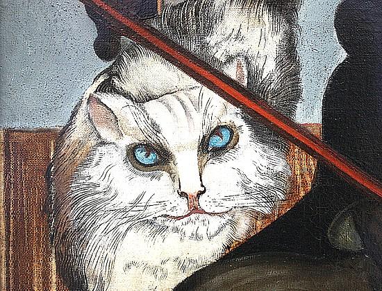 Detail of the cat from Herr Cleron, der Katzenzüchte (Mr Cleron, the cat breeder), 1925