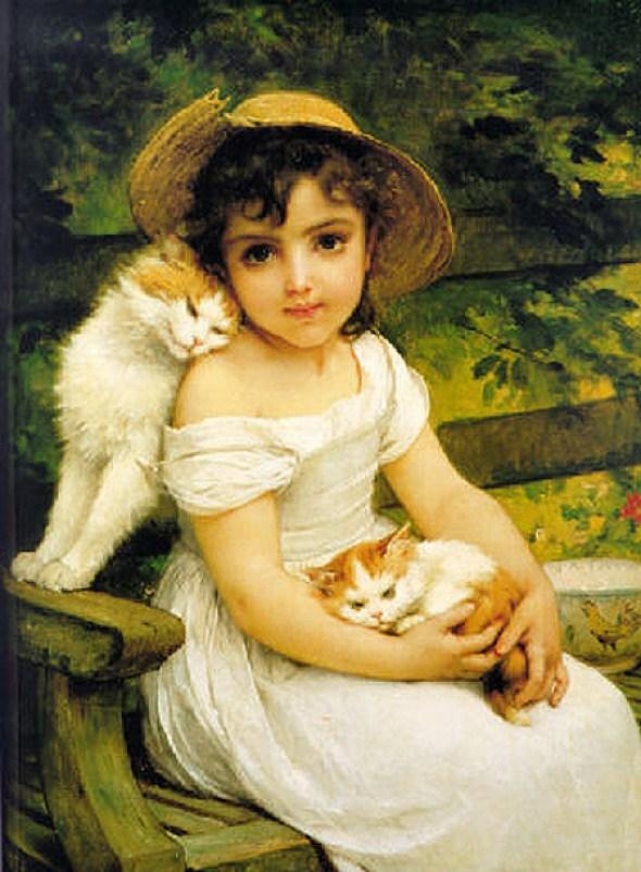Emile Munier (1840 – 1895, French) Best Friends