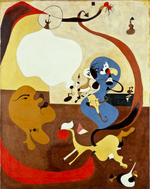 Joan Miró (D'après La leçon de danse du chat de Jan Steen) (1928)