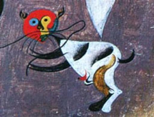 Joan Miro, cat