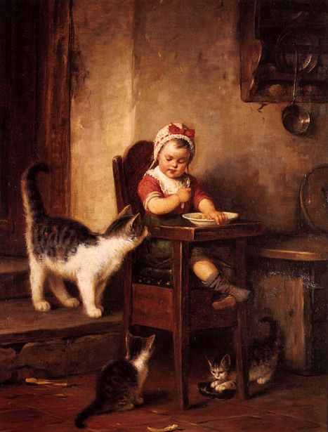 Rudolf Epp Breakfast time with cats