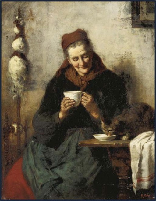 Rudolf Epp, Old Woman and Cat