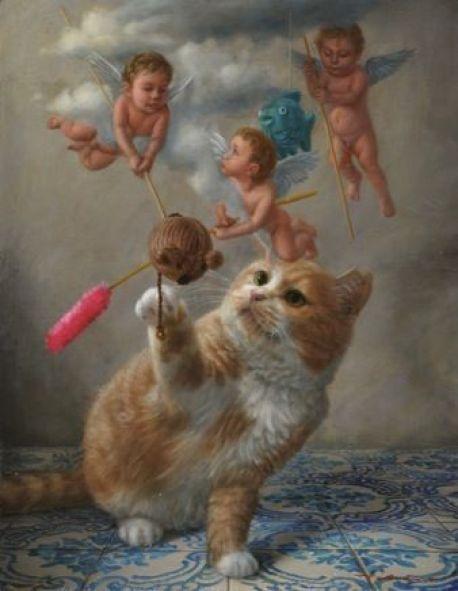 Tokuhiro Kawai, Cherubs and Cat