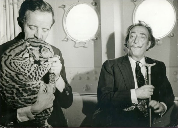 Dali and Babou aboard SS France