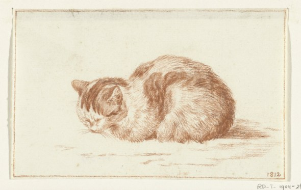 Seated Ginger Cat, 1812, Jean Bernard