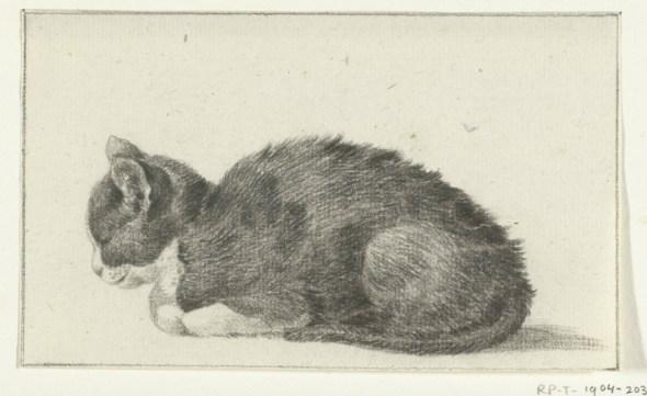 Sleeping Cat Facing Left, Jean Bernard
