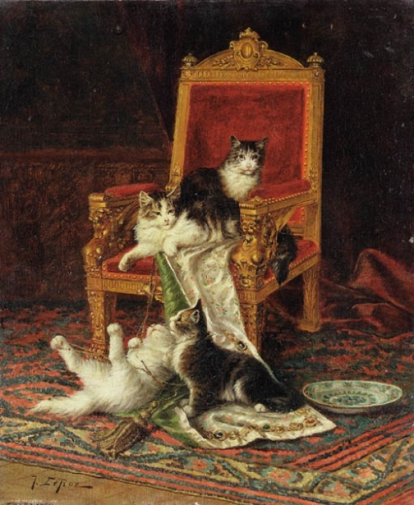 Jules Le Roy, Four Kittens Playing