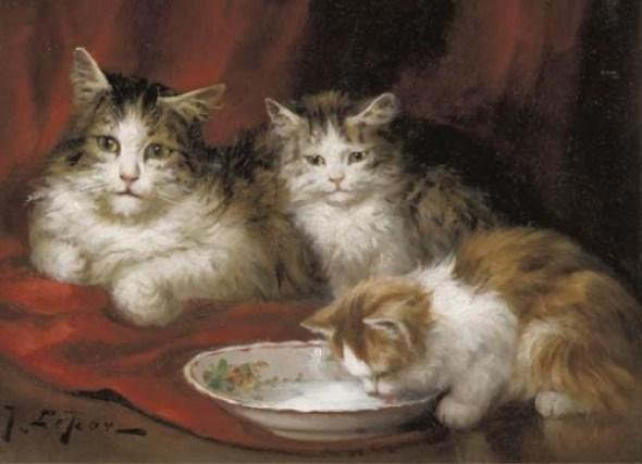 Jules Le Roy, Kitten Drinking Milk