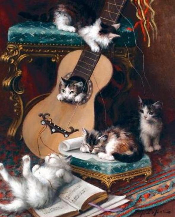 Jules Le Roy, Kittens Playing with a Guitar