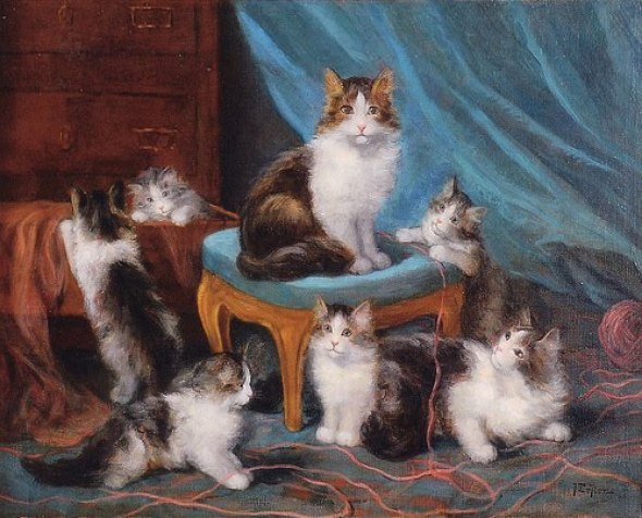 Jules Le Roy, Kittens and Yarn