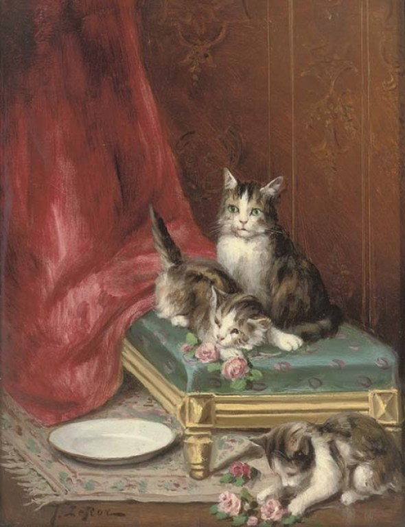 Jules Le Roy, Three Kittens Playing