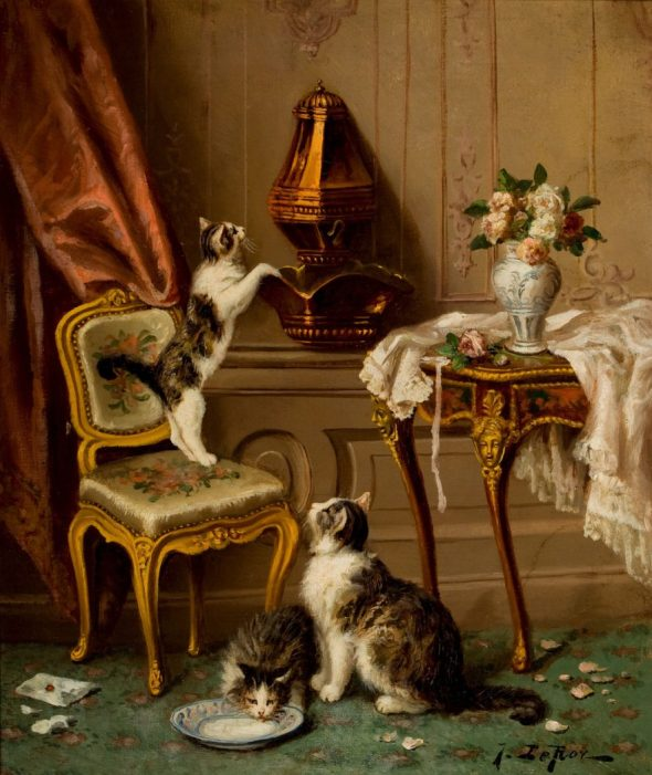 Jules Le Roy, Two Kittens