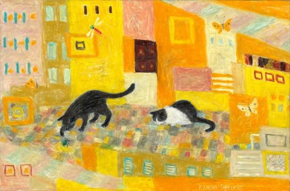 Kanoko Takeuchi, Cats with Yellow background