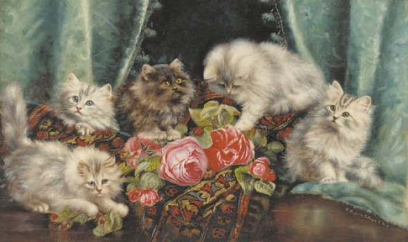Kittens and Roses, Agnes Augusta Talboys