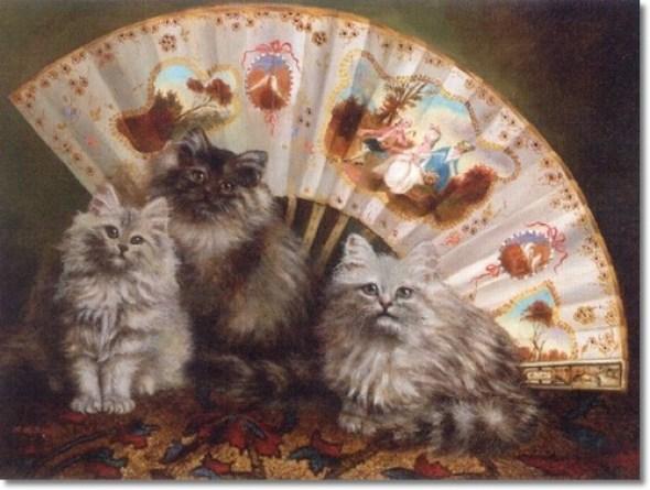 Persian Blues before a Fan, Agnes Augusta Talboys