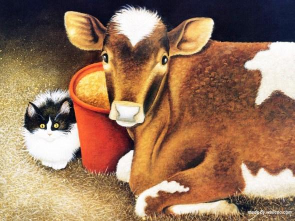 Cat and Cow Best Friends, Lowell Herrero