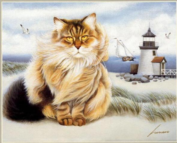 Cat By the Sea, Lowell Herrero