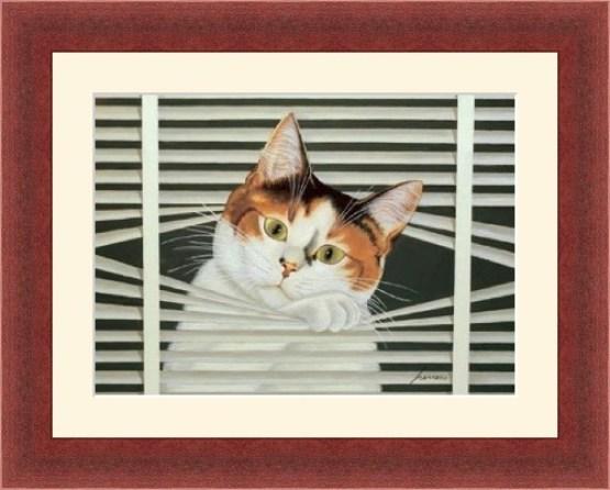 Cat Between the Blinds, Lowell Herrero