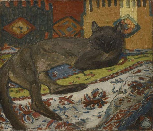 Cat on a Blanket, Theophile Steinlen