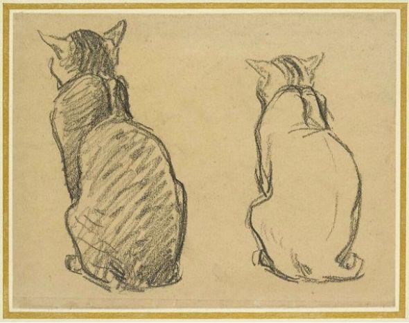 Cats Sitting, Theophile Steinlen