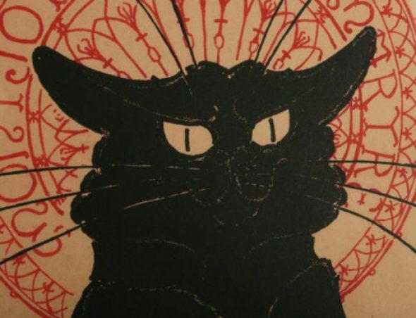 Detail, Le Chat Noir Poster, Theophile Steinlen
