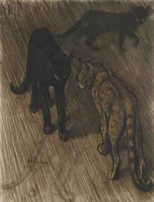 Les Trois Chats , Theophile Steinlen