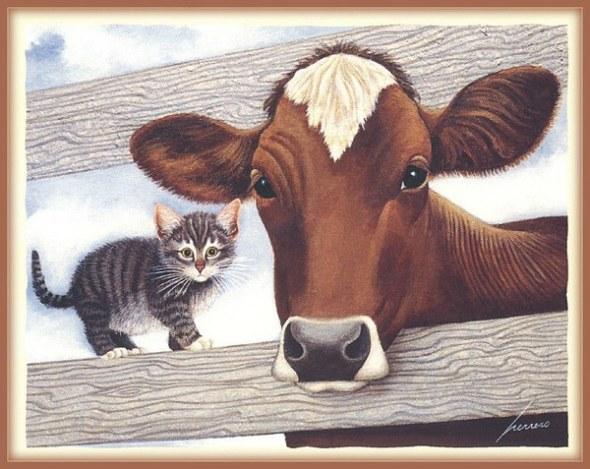 Lowell Herrero, Kitten and Cow