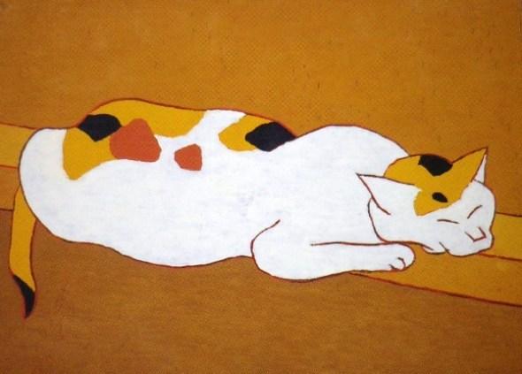 Morikazu Kumagai, Calico Cat, 1959