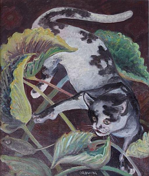 Orovida Camille Pissarro-Cat and Mouse