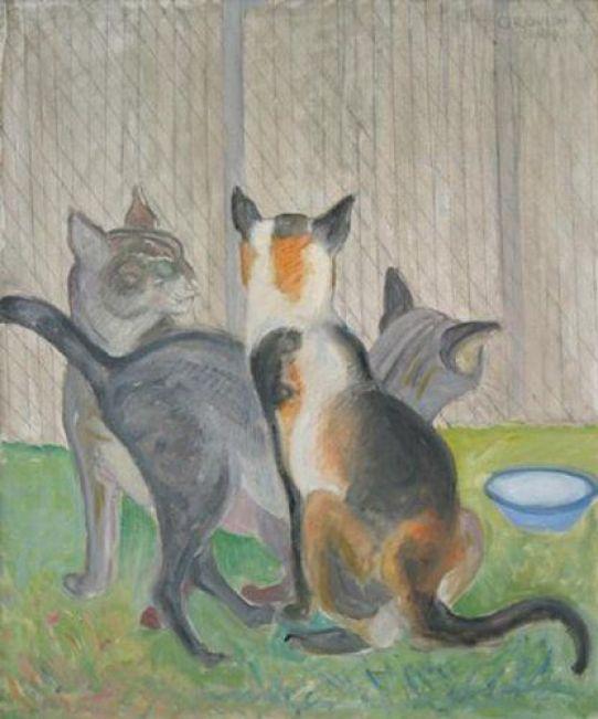 Orovida Camille Pissarro, Cats, 1964