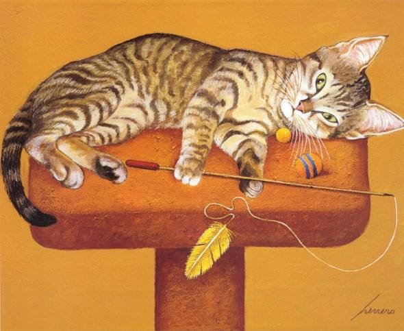 Cat Play time, Lowell Herrero