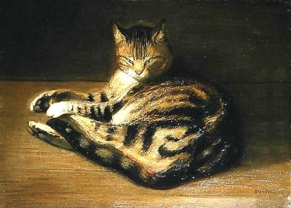 Recumbent Cat, 1898, Theophile Alexandre Steinlen
