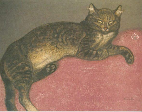 Relaxing Brown Cat, Theophile Steinlen