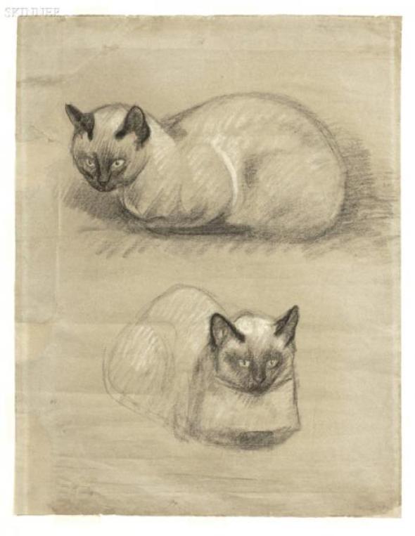 Siamese Cats, Theophile Steinlen