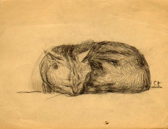 Sleeping Cat, Theophile Steinlen