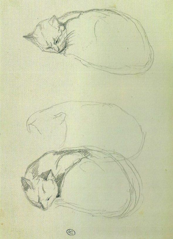 Three Cat Sketches, Theophile Steinlen