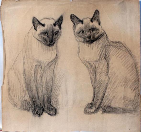 Two Siamese, Theophile Steinlen