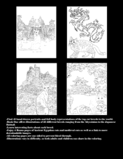 Cat Breeds Coloring Book One by L.A. Vocelle Back Cover